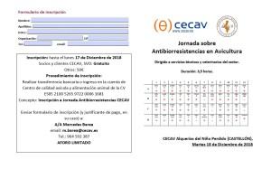 FORMULARIO INSCRIPCION JORNADA ANTIBIORRESISTENCIAS EN AVICULTURA