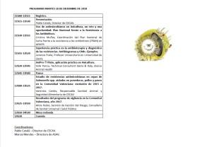 PROGRAMA JORNADA ANTIBIORRESISTENCIAS EN AVICULTURA