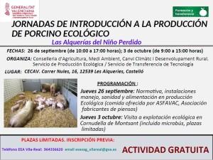 JORNADAS INTRODUCCION A LA PRODUCCION DE PORCINO ECOLOGICO