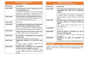 IX JORNADA LIMPIEZA Y DESINFECCION EN EXPLOTACIONES AVICOLAS
