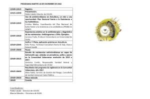Jornada antibiorresistencias en avicultura 18 diciembre 2018.