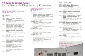VIII curso de sanidad avicola herramientas de diagnostico y prevencion 31 y 1 de mayo 2018.